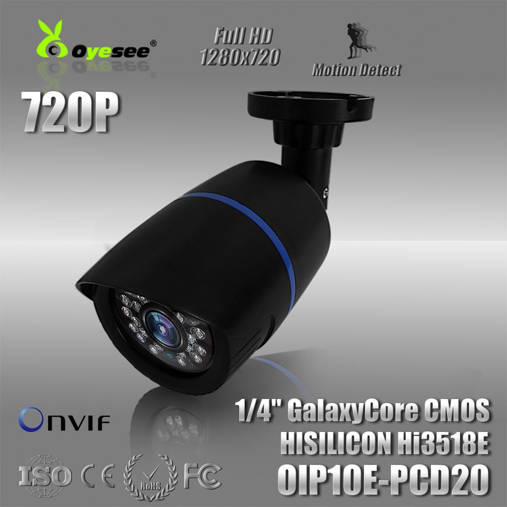 Free Shipping 720P cctv camera mini security camera onvif 20m ir range fixed lens IP CAM ip camera 1mp 1 megapixel(China (Mainland))