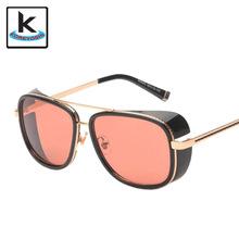 High Quality Brand Design Wen Steampunk Sunglasses Fashion Alloy Frame Glasses Vintage Sun Glasses UV400 Oculos Q360