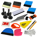 15Kinds Car Film Wrap Window Tinting Tool Kit 3M Wool Squeegee Magnet Holder Vinyl Cutter Knife