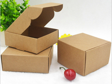 Kraft paper Folding Gift Boxes Square storage box Cookie Cake packaging Box Birthday Party Wedding Christmas 50pcs/lot