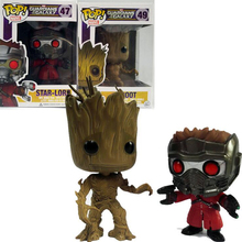 Funko Pop Groot Star-Lord Tree man Guardians of the Galaxy Anime Movie Vinyl PVC Collection Action Figure Model PVC Kids Toys