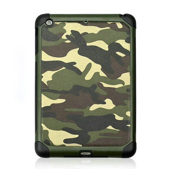 Case for iPad mini 2,Camouflage 2 in 1 Genuine Leather Case for iPad mini 2,back cover for iPad mini 2,New arrival