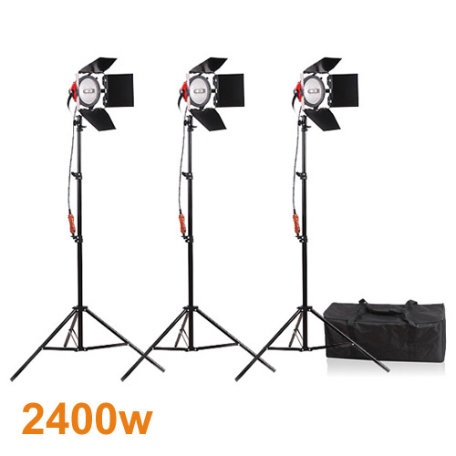Photography Studio Continuous Lighting Kits 800W Video Red Head Continuous Light 3 with 200cm Light Stand