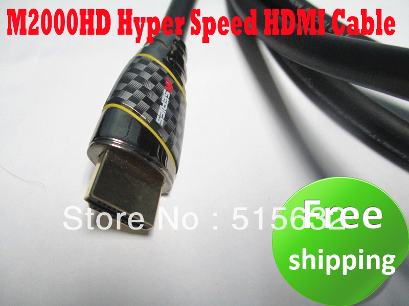 wholesale New M2000HD Hyper Speed HDMI Cable M2000 8ft / 2.4m HDMI 1.4 UPGRADE PROGRAM(China (Mainland))
