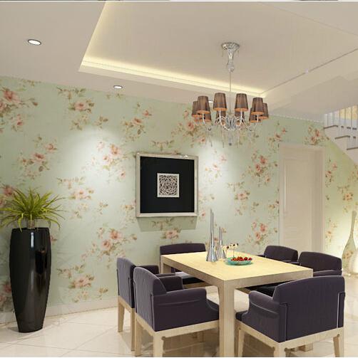 Floral living room wallpaper for Floral wallpaper living room