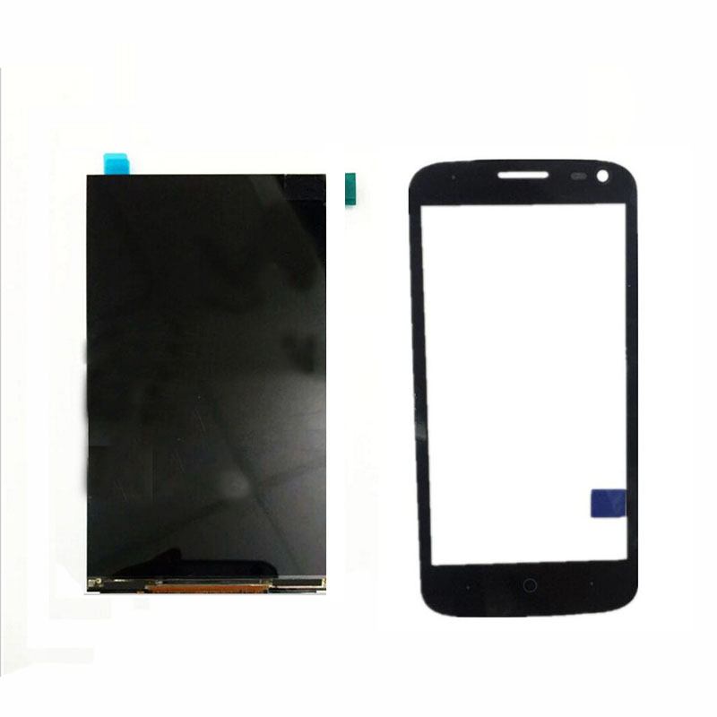 Touch Screen For ZTE Blade Q Lux 4G / 3G Front Glass Digitizer Panel Sensor +LCD Display Replacement(China (Mainland))