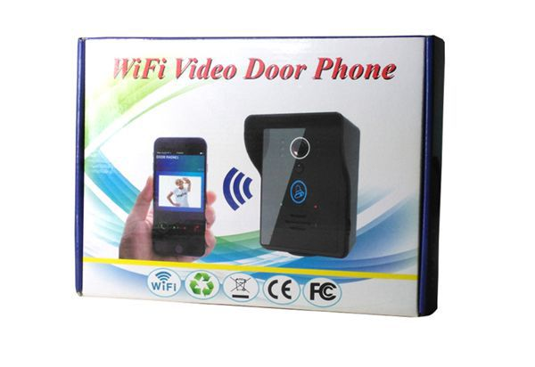 2016 new 720P WiFi Video Door Phone Home Security Wireless Intercom P2P Support iOS Android Smartphone with 4 dingdong doorbell