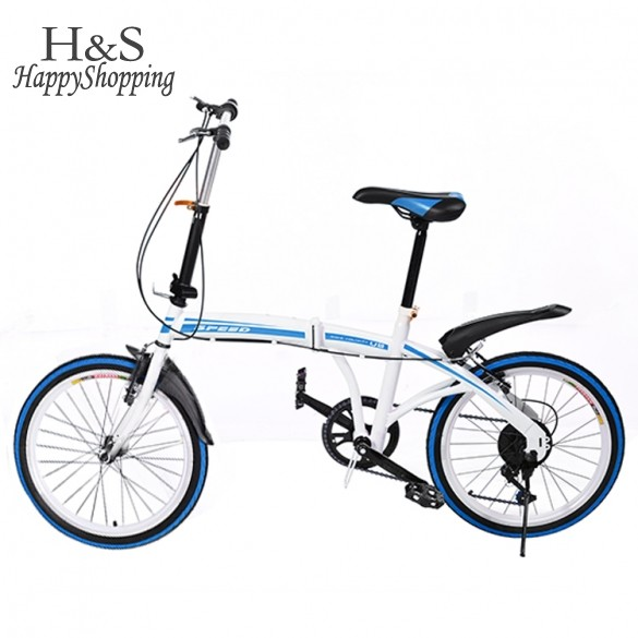 Practical Portable Folding Foldable Bike 20 inch 6-Speed Bicycle Ladies Bicycles(China (Mainland))