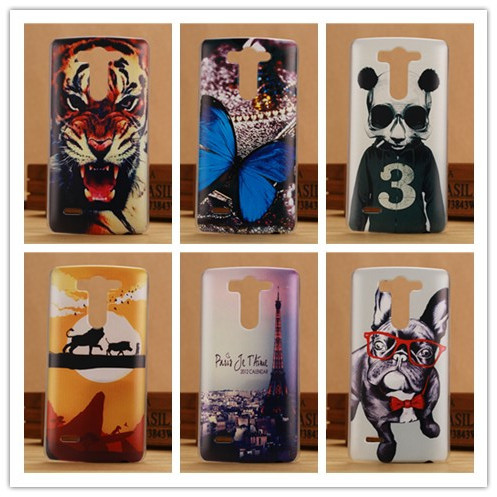 New Painting Hard PC Plastic Cover Pattern Case For LG G3 mini D722 D725 Protection Back Cases PY(China (Mainland))