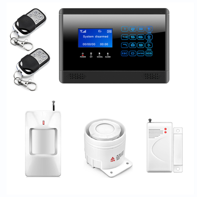 P29 433MHz Sensors Wireless GSM SMS TEXT Alarm System Touch Keypad Home House Alarm System Touch Screen High Quality