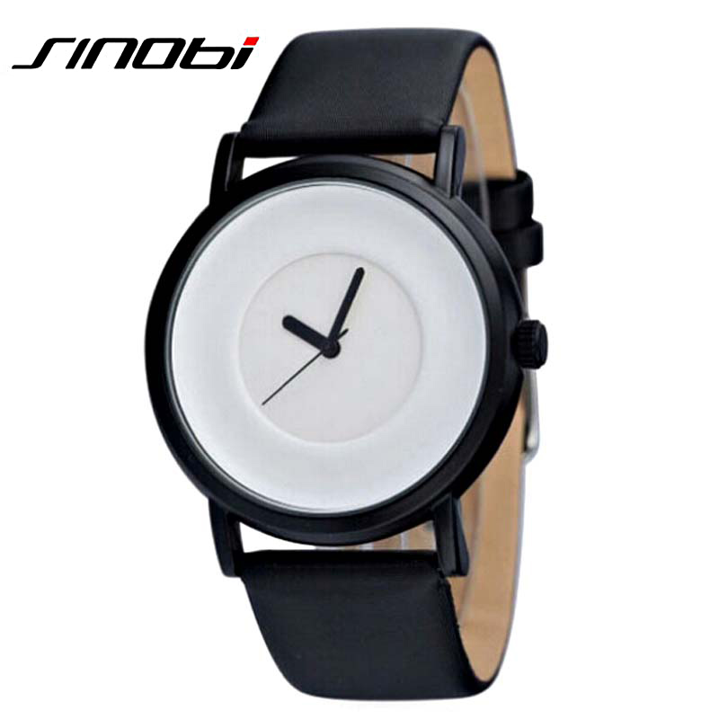buy montre homme de marque sinobi wrist watch men leather strap quartz watch. Black Bedroom Furniture Sets. Home Design Ideas