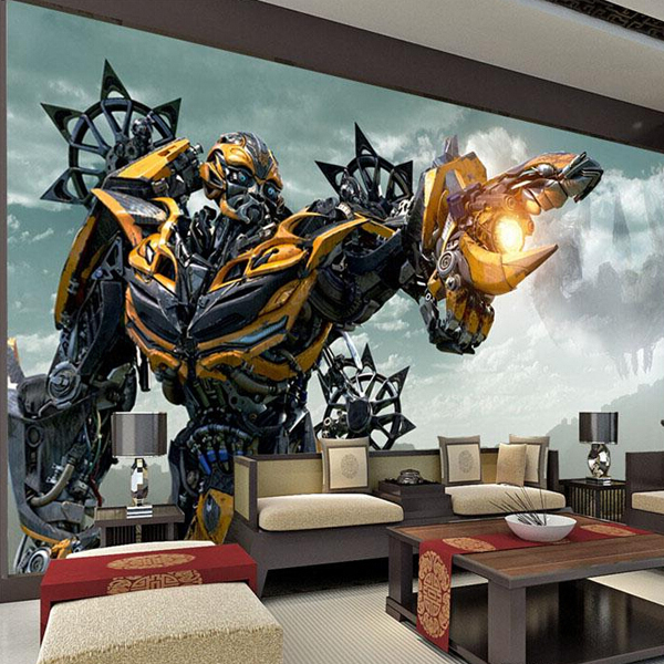 Transformers bumblebee wall mural large wall art photo for Designer mural wallpaper