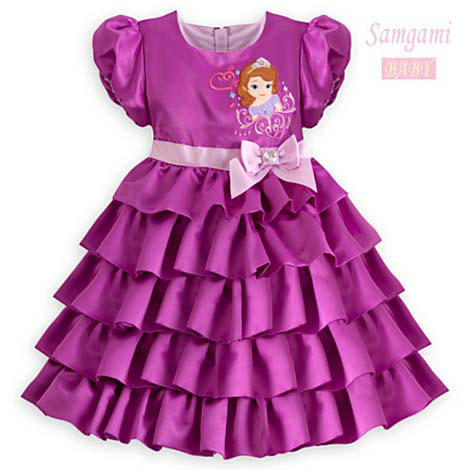 Age 2 Elegant Baby Girl Snow White Princess Dress Girls Clothes Violet Evening Party Ball Tutu Summer Dresses(China (Mainland))