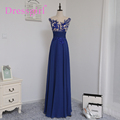 Dressgirl 2016 Cheap Bridesmaid Dresses Under 50 A line Cap Sleeves Royal Blue Chiffon Embroidery Wedding