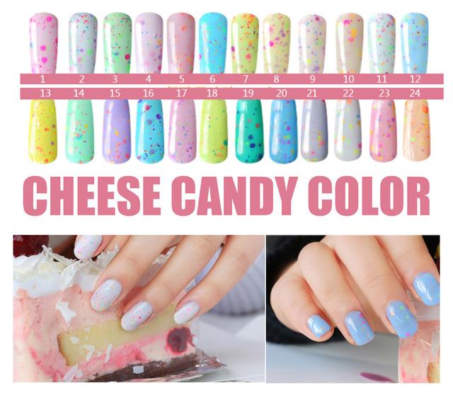 Сыр конфеты 36 цвет выдерживают-3 из светодиодов уф-гель лак для ногтей GelPolish ...