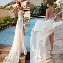 Vestido de noiva 2015 Modest Julie Vino Orchid Collection High Slit Lace wedding dress short front long back Wedding dresses(China (Mainland))