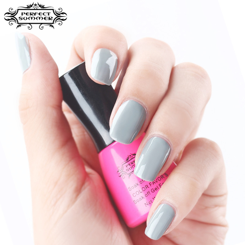 Perfect Summer Gel Polish LED UV Soak Long Lasting Nail 8ml Newest Classic Grey Series Colors Lacquer - Store store