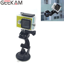 GEEKAM Gopro Accessories for SJ4000 Car Sucker Holder Mount Suction Cup for GoPro Hero 4 3