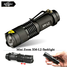 Zoom mini cree xm-l2 Flashlight Led Torch 5 mode 3800 Lumens waterproof 18650 Rechargeable battery Tactical flash light(China (Mainland))
