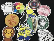 50 pcs laptop skins Mixed Emoji Stickers For Children Anime Cartoon Stickers In Notebook Wall Car Sticker Skateboard FF-BQB3