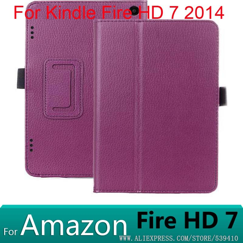 10ps/lot Kindle Fire HD 7 2014 case Luxury Litchi Leather Case Cover Amazon cover - Phone_cover Co.,Ltd store