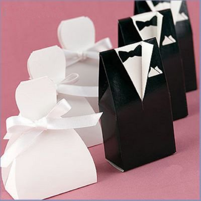 GAGA ! Free shipping 500pcs/lot black and white favor box bride groom wedding boxpaper box XTH-999(China (Mainland))