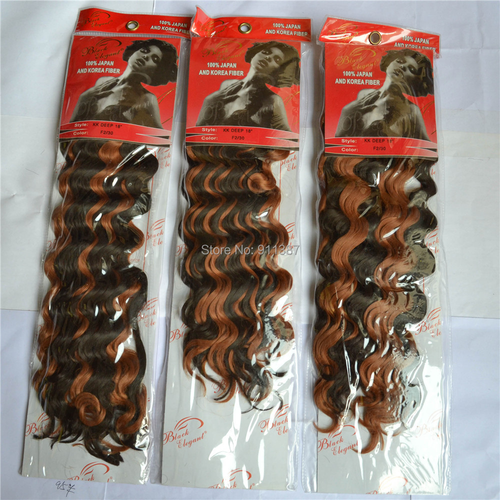 synthetic hair extension weave braiding kk deep 18inch 5packs lot - Beauty Lady's World store