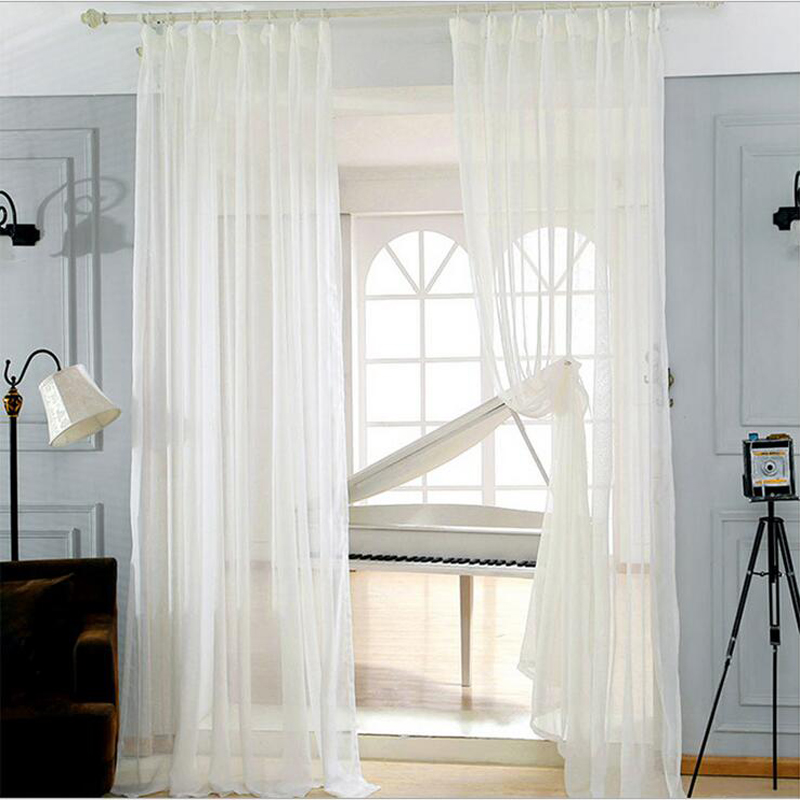 lynn solid linen voile tulle window princess curtains sheers for livingroom drape transparent