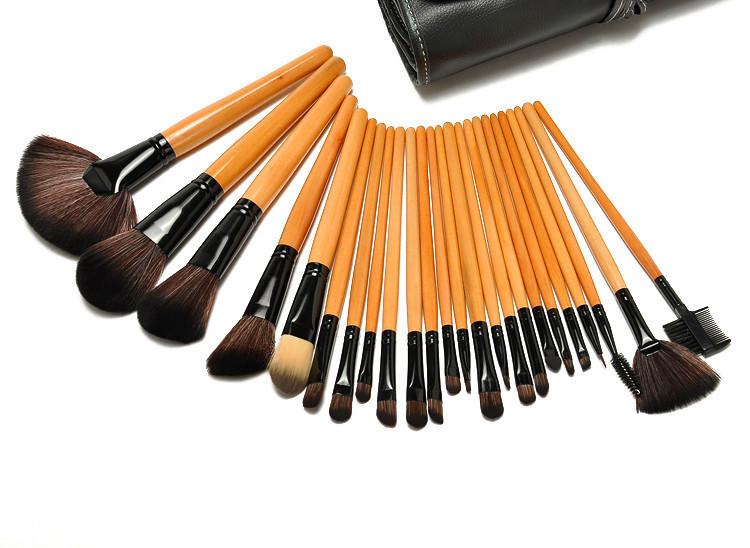A++Powerful 11-32pcs Makeup Brush Sets Professional Cosmetics Brushes Eyebrow Eye Brow Powder Shadows Make Up Tool Kit Pouch Bag(China (Mainland))