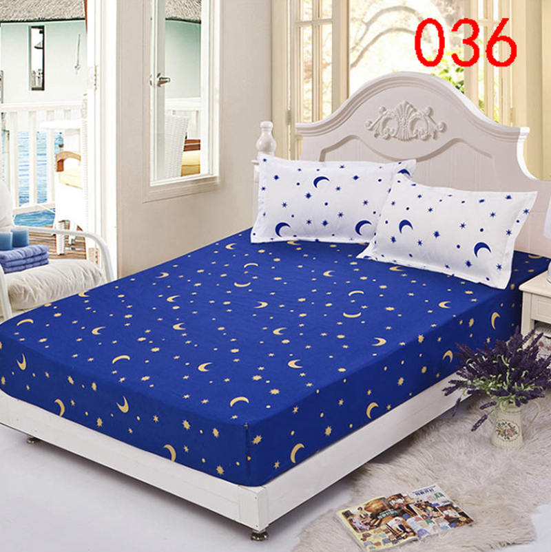 sun star polyester fitted sheet single double bed sheets fitted cover twin queen mattress cover. Black Bedroom Furniture Sets. Home Design Ideas