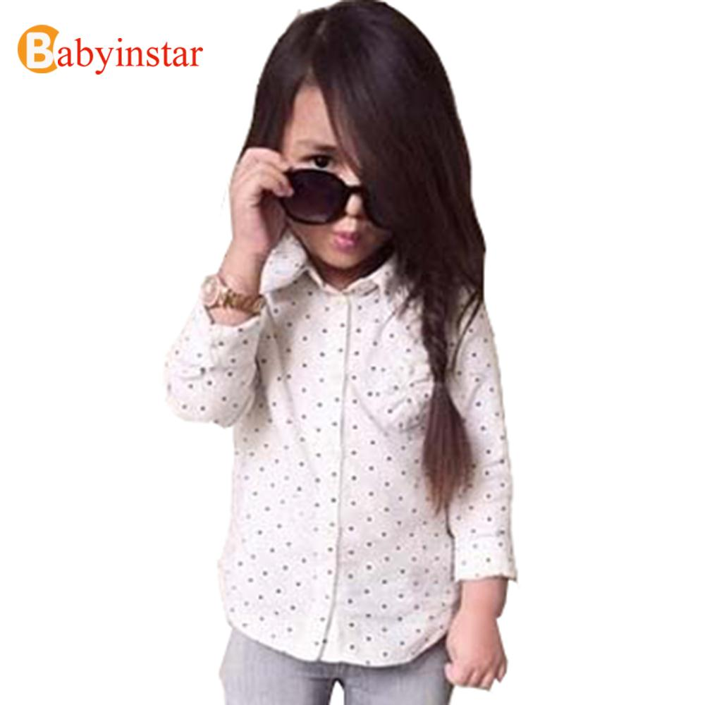 Children Girls Dot Shirts Kid's Casual outwear Fashion Kids Clothing 2016 New INS Style - [ Babyinstar ] Children's Store store