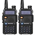 2pcs lot Baofeng UV 5R Walkie Talkie Ham Radio UHF VHF 136 174MHz 400 520MHz 128