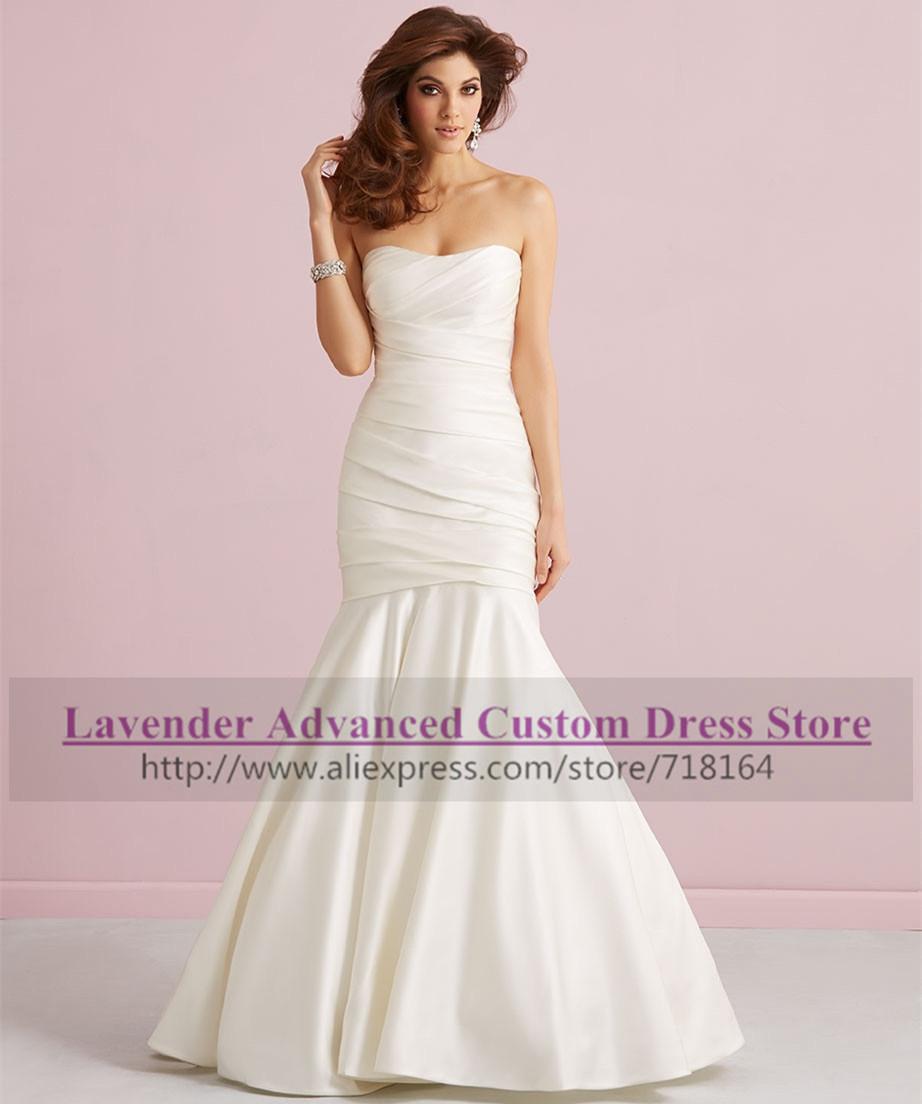 Buy brief elegant floor length mermaid for Mermaid wedding dress with long train