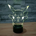 New Lamp 3D Night Light Halloween Kids Toys Holiday Gifts 7Color Change USB Led Lampe Pocket