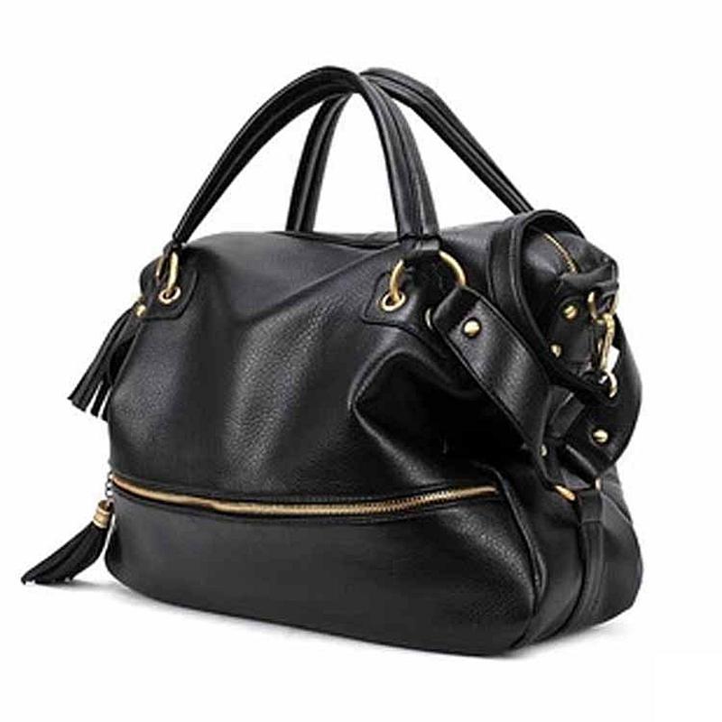 Rock PU Leather Pillow Bag Women Handbag Messenger Bags Tassel Shoulder Black Tote sac main femme bolsas feminina L539 - SEAC Fashion Store store