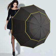 Fancytime большой складной зонт для мужчин, Зонт от дождя для женщин 130 см, ветронепроницаемый большой женский зонт, мужской женский зонт хорошег...(China)