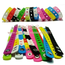 hot 14 styles choose 14pcs Multi color 21cm silicone wristbands bracelets fit shoe charms fashion decoration children gifts(China (Mainland))