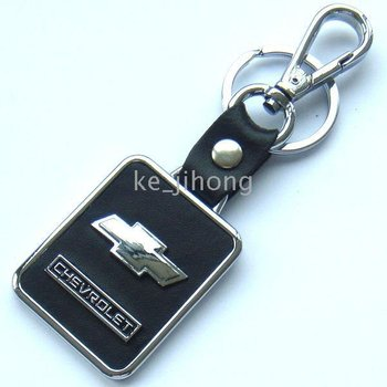 Chevrolet high quality metal alloy +real leather Keychains