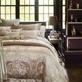 Royal jacquard duvet cover set queen king size adults bedding set 100 cotton satin bed sheets