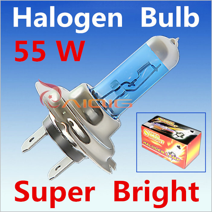 2pcs H7 55W 12V Halogen Bulb Super Xenon White Fog Lights High Power Car Headlight Lamp