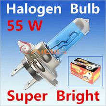 Car Light Source 2pcs H7 Super Bright White Fog Halogen Bulb  55W Car Headlight Lamp factory directly   Extemal headlight