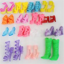 Креативный подарок; 10 пар разноцветных босоножек с украшением в виде кристаллов; обувь на высоком каблуке; кукольная одежда; платье; Acc(China)