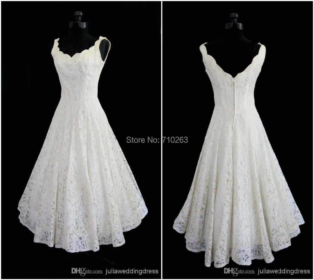 Plus size 2016 new simple scoop neck a line tea length for Plus size tea length wedding dresses