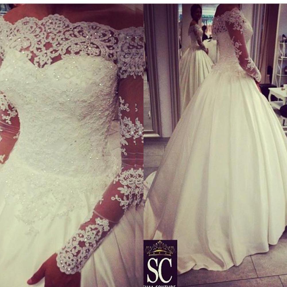 Vestido de noiva plus size off the shoulder vintage for Vintage off the shoulder wedding dresses