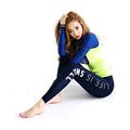 PDOVE 2016 New Women Sportswear Yoga Sets Slim Long Sleeve Yoga Pants Fitness Dance Gym Sports