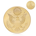 Gold Plated Annuit Coeptis Commemorative Coin Collection Physical Challenge Gift K400Y