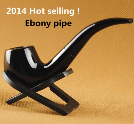 Fashion Handmade Ebony Smoking pPpe New Smoking Pipe 9mm Filter Men s Wooden Tobacco Smoking Pipes