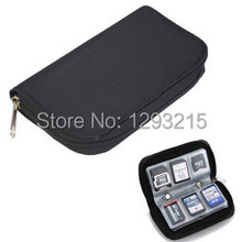 Free Shipping CF/SD/SDHC/MS/DS Memory Card Storage Case Carrying Pouch Holder Wallet B228 s1o(China (Mainland))