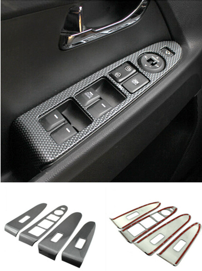 car styling interior car door armrest panel decorative frame cover trim abs decal 3d sticker car. Black Bedroom Furniture Sets. Home Design Ideas