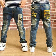 Casual garçons jeans enfants vêtements de Denim pantalons pantalons vêtements pour enfants fraîche jeans pour garçons 2015 nouveau printemps automne hiver(China (Mainland))
